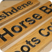 Carved Wooden House Signs