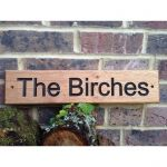 Wooden House Sign - Single Line