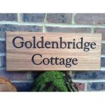 Wooden House Sign - Two Line